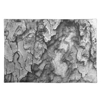 For the Love of Nature - Black & White Bark Placemat