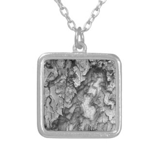 For the Love of Nature - Black & White Bark Silver Plated Necklace