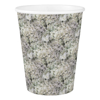 For the Love of Nature - Stripey Flowers Paper Cup