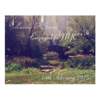 For the Love of NYC - Engagement Postcard