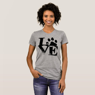 For The Love of Pets 🐾 Paw Print Love T-Shirt