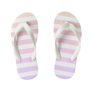 For the Love of Shoes - Ombre Stripe Flip Flops