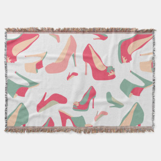 For the Love of Shoes Throw Blanket