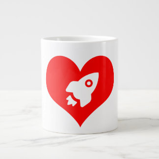 For The Love of Space:  A little heartburn Large Coffee Mug