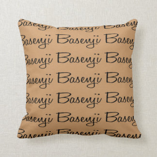 For the Love of the Basenji Dogs Throw Pillow