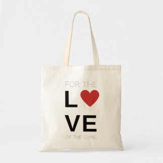 For the love of the game softball bag, red heart tote bag