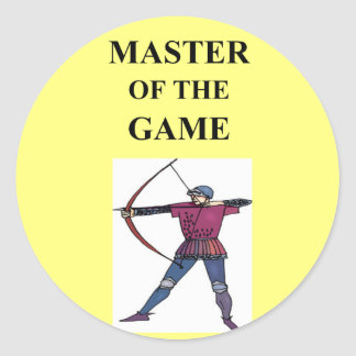 for the master archer classic round sticker