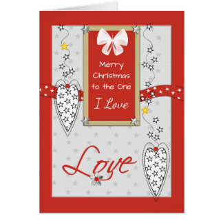 For the one I Love at Christmas Card
