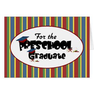 For the Preschool Graduate Congratulations Card