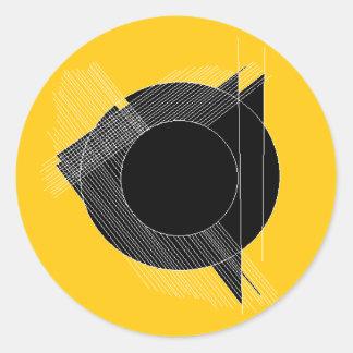for the record (geometric design) classic round sticker