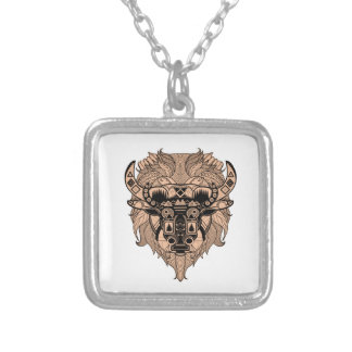 FOR THE TIME SILVER PLATED NECKLACE