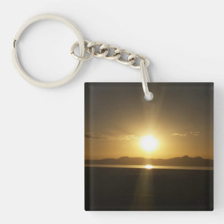 For the Traveler Single-Sided Square Acrylic Keychain