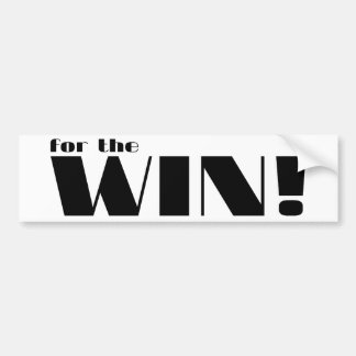 For The Win 2 Bumper Stickers