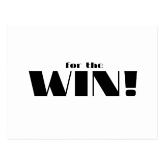 For The Win! Postcard