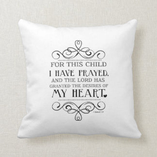 For This Child I Have Prayed Scripture Pillow