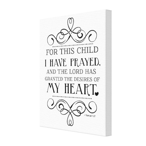 For This Child I Have Prayed Scripture Quote Gallery