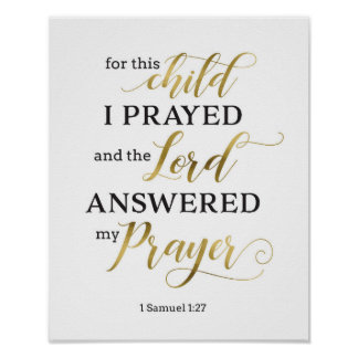 For This Child I Prayed Art Print