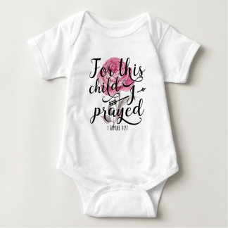 For This Child I Prayed - Bible Verse Baby Bodysuit
