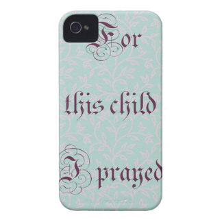 For this child I prayed- green gray iPhone 4 Cover