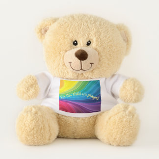 For This Child We Prayed Rainbow Baby Celebration Teddy Bear