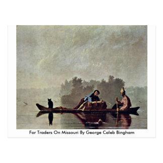 For Traders On Missouri By George Caleb Bingham Postcard