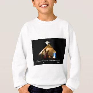 for unto you a savior is born sweatshirt