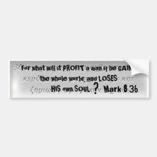 """For what will it PROFIT ... - Customized Bumper Sticker"