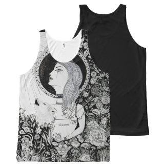 For Who Shall Be Saved - Ink Drawingdark arts girl All-Over-Print Tank Top