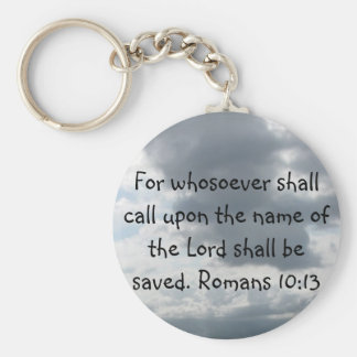 For whosoever shall call upon the name of the Lord Basic Round Button Keychain