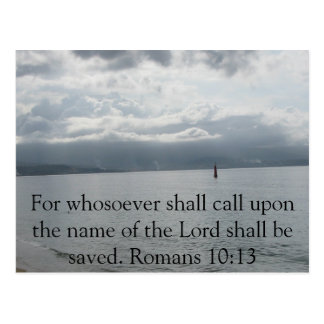For whosoever shall call upon the name of the Lord Postcard