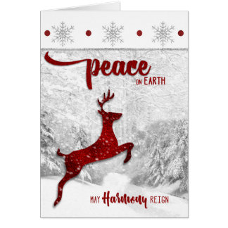 for Yoga Teacher / Instructor Christmas Peace Card