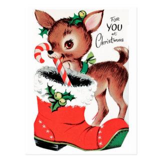 For You at Christmas Reindeer Postcard