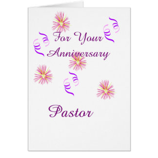 For Your Anniversary Pastor Card