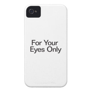 For Your Eyes Only Case-Mate iPhone 4 Case