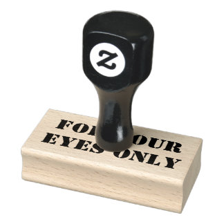 FOR YOUR EYES ONLY RUBBER STAMP