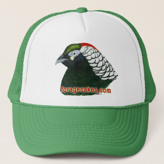 Forage Cakes:  Lady Amherst Pheasant Trucker Hat