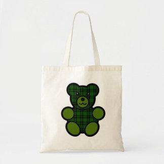 Forbes Tartan Plaid Teddy Bear Tote Bag