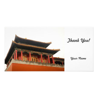 Forbidden City Building Personalized Photo Card
