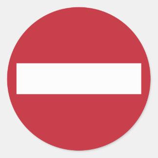 Forbidden ! classic round sticker
