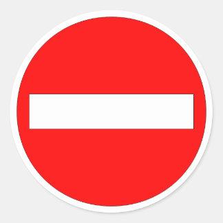 Forbidden Entry Sticker