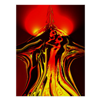 Forbidden Fruit Abstract Poster