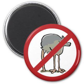 Forbidden to put head in sand! 2 inch round magnet