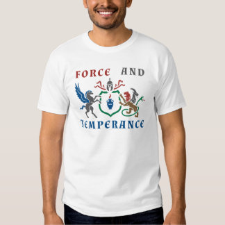 Force and Temperance Color Blazon Tee Shirt