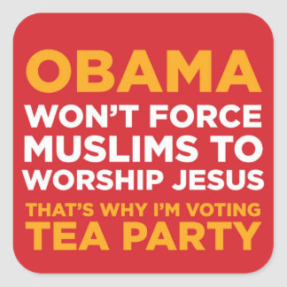Force Muslims Square Sticker