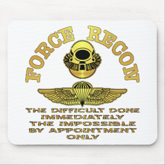 Force Recon Difficult Done Immediately Mouse Pad