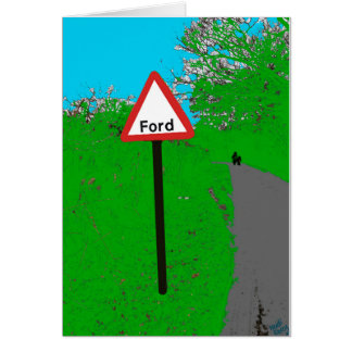 Ford Road Sign Card