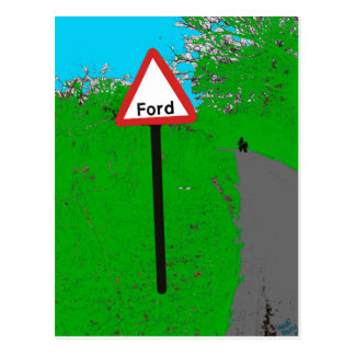 Ford Road Sign Postcard