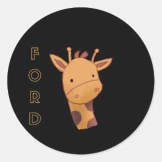 Ford The Giraffe Classic Round Sticker