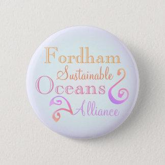 Fordham Sustainable Oceans Alliance Rainbow 2 Inch Round Button