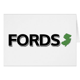 Fords, New Jersey Greeting Card